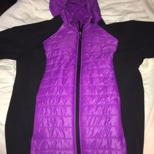 Purple puffy jacket